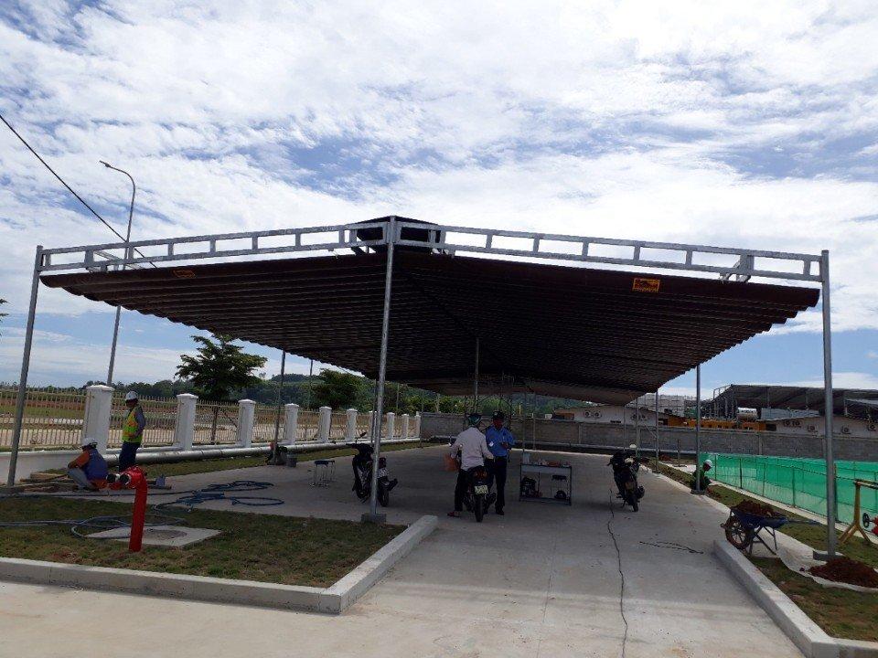 Đơn vị thi công cung cấp mái bạt xếp che nắng mưa tốt nhất Quận 7 TPHCM